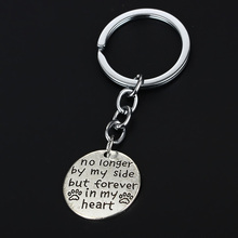 2016 Hot Sale Forever In My Heart Dog Footprints Keyring Best Friend For Lover Women Lady Party Dress Keychain Souvenirs