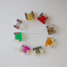 low profile MINI Blade Fuse Auto Car Truck Motorcycle SUV FUSES Kit APS 2A 3A 5A 7.5A 10A 15A 20A 25A 30A 35A+BoX