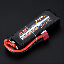 High Quality Reachargeable Lipo Battery Giant Power 11.1V 2300mAh 3S 65C Lipo Battery T Plug For RC Model