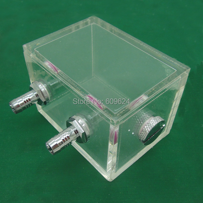 Acrylic water tank 200ML 80x60x60mm for water cooling radiator computer cpu water block<br><br>Aliexpress