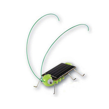 Solar Cricket Green Grasshopper Insect Cricket Juguetes Solares Mini Solar Powered Toy Crazy Bug Gadgets For Kids Children