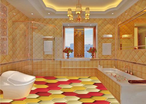 customize 3d wallpaper flooring Vector hexagon 3d floor wallpaper living room bedroom wallpaper for walls 3d for floor<br>