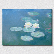 Monet water lilies painting for living room decoration high quality arts large cheap and famous artist paint printed