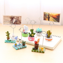 Cartoon message folders notes folder decoration photo frame desktop clip sticky small animal clip Card Holder
