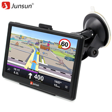 Junsun 7-Inch Capacitive screen Car GPS Navigation System Units 8GB Windows CE 6.0 Lifetime Maps Portable Vehicle Navigator(China)