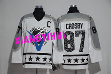 Free shipping 2017 High Quality New Style Alles hot starly Ice Hockey Jerseys CROSBY #87