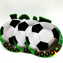 10pcs football plates kids birthday wedding party supplies football paper dishes happy birthday party supplies