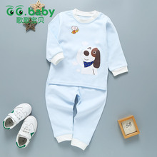 2017 Autumn Newborn Clothing Sets Baby Children Clothes Baby Boys Girls Clothes Set Cotton Print Dog Newborn Baby Suit Infantil(China)