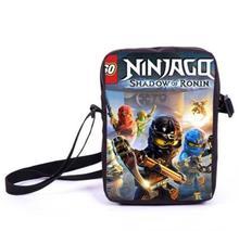 Kids Cartoon Pattern Mini Shoulder Bag Primary School Students Lego Ninjago Messager Bag Boy Girl Customize