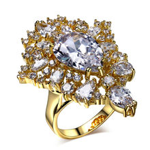 Fancy Women Best Buy Long shape Clear CZ crystals for Party Korean Design Jewelry Bright Clear Cubic zirconia Ring for women