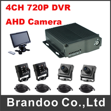 Support VGA Output  4CH 720P Car DVR Taxi Bus Vehicle Truck DVR For Russia Mexico