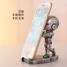 12.5cm Iron Man Phone holder action figure Super hero Iron Man figures craft model toy Tonny Mark Resin Chritmas Gift(China)