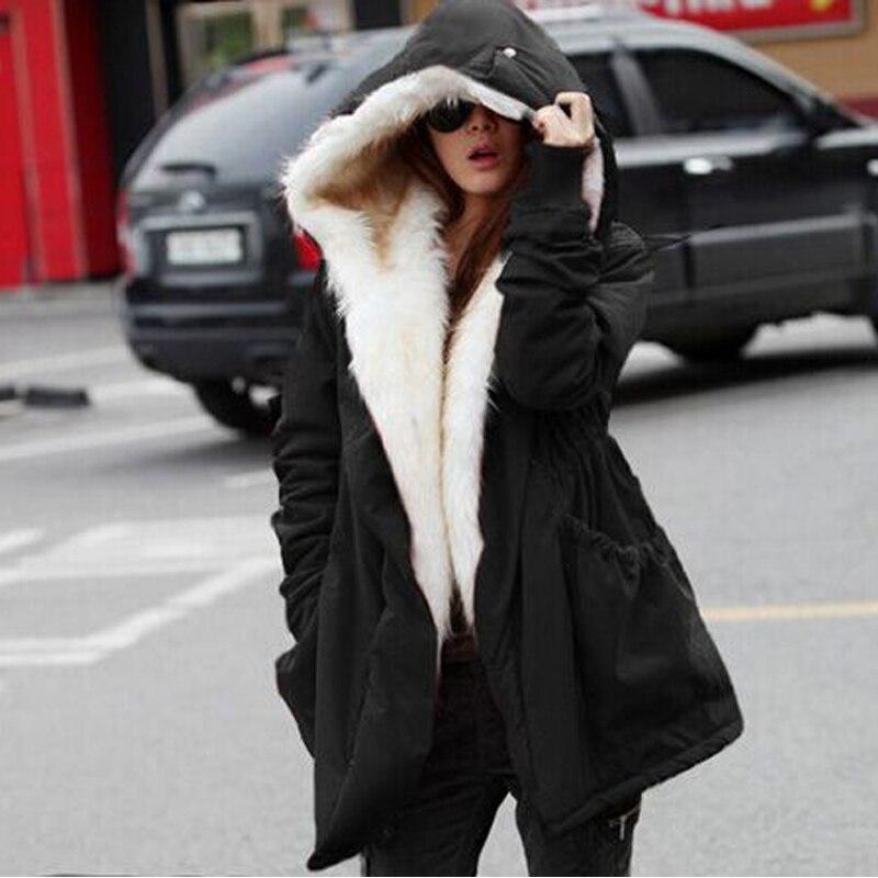 2017 New arrival winter women plus velvet jackets 4 colors loose long sleeves thick warm jackets soft fur collar jacketsÎäåæäà è àêñåññóàðû<br><br>