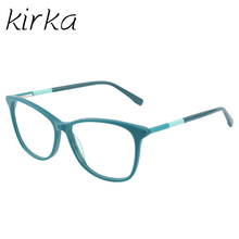 Kirka 2017 Fake Glasses Acetate Vintage Lady Eyewear Frame Clear Glasses Women Reading Optical Frame in High Quality(China)