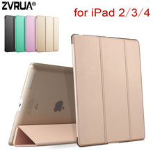 Для iPad 2 3 4, zvrua ура Цвет ПУ Чехол магнит Wake Up Sleep для Apple iPad 2 iPad 3 iPad 4(China)