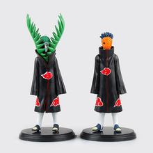Japan Anime Naruto Ninja 2  Akatsuki Sect  Zetsu Uchiha Madara ornaments model size 16-19cm 2pcs/set