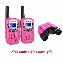 2 color Retevis RT388 Kids Walkie Talkie With Binocular SVBONY 8x21 Ultra Compact Small Porro Prism Travel Telescope Best Gifts