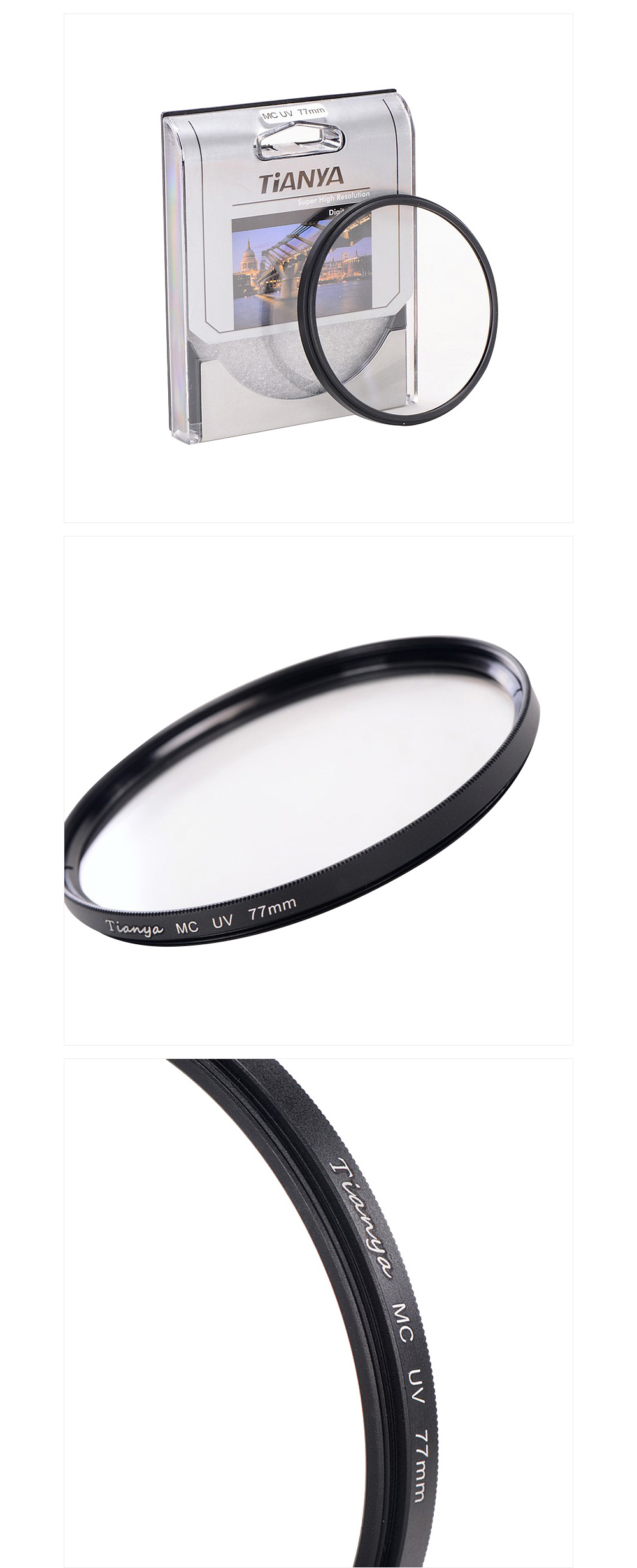 tianya uv filter MCUV filter 37 40.5 43 46 49 52 58 62 67 77 82 86mm mcuv 4-layer coating filters for nikon canon camera lens 2