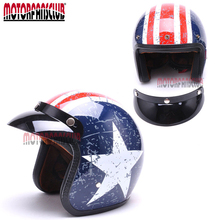 Unisex Women Man DOT 3/4 Open Vintage Face Helmet Motorcycle Cruiser Scooter Cafe Racer Retro For Yamaha Kawasaki Harley