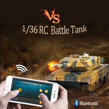 RC Fighting Battle Tank 1:36 Phone Control Simulated Panzer Mini  Battling Tank Remote Control Toys for Kids, Boys