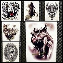 Большой тираннозавра динозавр татуировки для Для мужчин Для женщин Arm поддельные татуировки Водонепроницаемый Средства ухода за кожей Кни...(China)