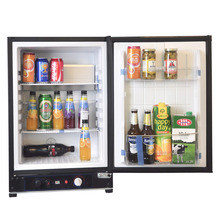 Smad 110V-220V LP Gas Mini Fridge 60L Low Noise Hotel Refrigerator 12V Electric Propane Portable Bar Car Boat Cooler(China)