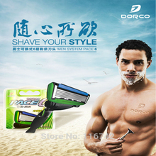 High quality 4pcs/lot new razor replacement 6 blades razor Blades shaving razor shaver blades Dorco Razor Blades for men(China)