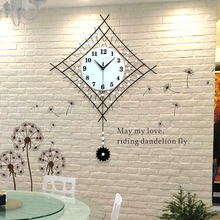Creative Modern Decoration Pendulum Clock The Sitting Room Fashion Wall Clock mute swing bedroom quartz clock 93*63cm