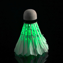Dark Night LED Badminton Shuttlecock Birdies Lighting final clear out at the bottom price(China)