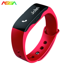 2017 Smart Bracelet Men Women Black Band Fashion Smart Watch Android Bluetooth Speaker Clock LED Screen Call Reminder Wristwatch