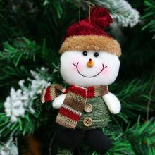 Snow Man Reindeer Dolls Action Figures Toys Children Christmas Decoration Xmas Tree Hanging Pendant Gifts