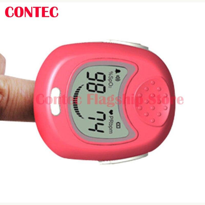 Big factory PINK CMS50QA CE Kids Child Baby Heart Rate Children Fingertip Pulse Oxygen Blood SPO2 Oximeter Monitor Smile <br>
