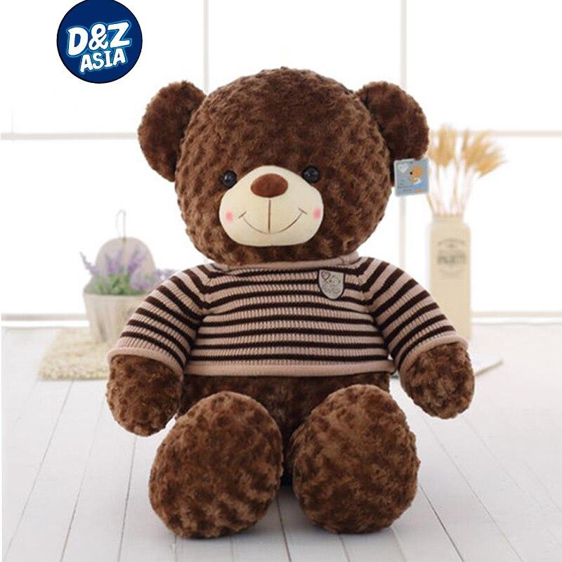 Sweater dress retro bear large doll curly bear doll american giant stuffed teddy bear toys for children<br>