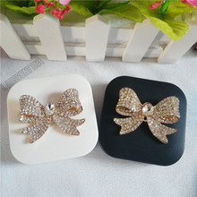 LIUSVENTINA DIY Alloy beautiful alloy Bow Butterfly diamond contact lens case for eyes contact lenses box for glasses