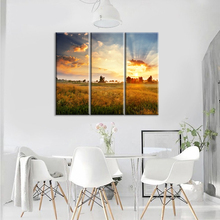 Fire cloud sky Wall Art Canvas Prints Art Home Decor For Living Room Pictures 3 Panel Large HD Printed Painting Framed Ready to(China)