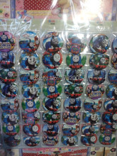 New 48pcs/set Train Pin Badges,Round Brooch Badge Kids Clothing Accessories 4.5 cm Free Shipping MF064(China)