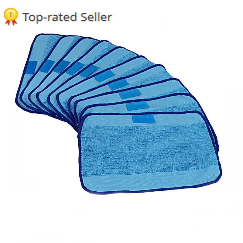 Microfiber 10-Pack Pro-Clean Mopping Cloths for Braava Floor Mopping Robot irobot Braava Minit 4200 5200 5200C 380 380t(China)