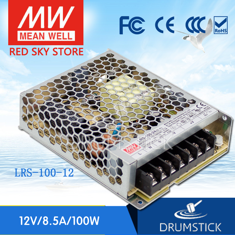 Only 11.11) MEAN WELL LRS-100-12 12V 8.5A meanwell LRS-100 102W Single Output Switching Power Supply [Hot1]<br>