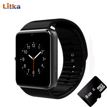 GT08 Bluetooth Smart Watch Support Sim TF Card Push Message Men Sport Unlock Clock Connectivity Android Phone PK DZ09 Smartwatch(China)