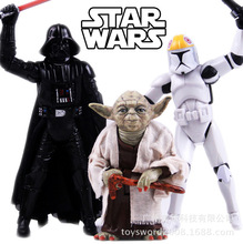 Retail Star Wars Dark Wu Shida, vader White pawns yoda hand model Anime models toys hobbies action toy figures anime games