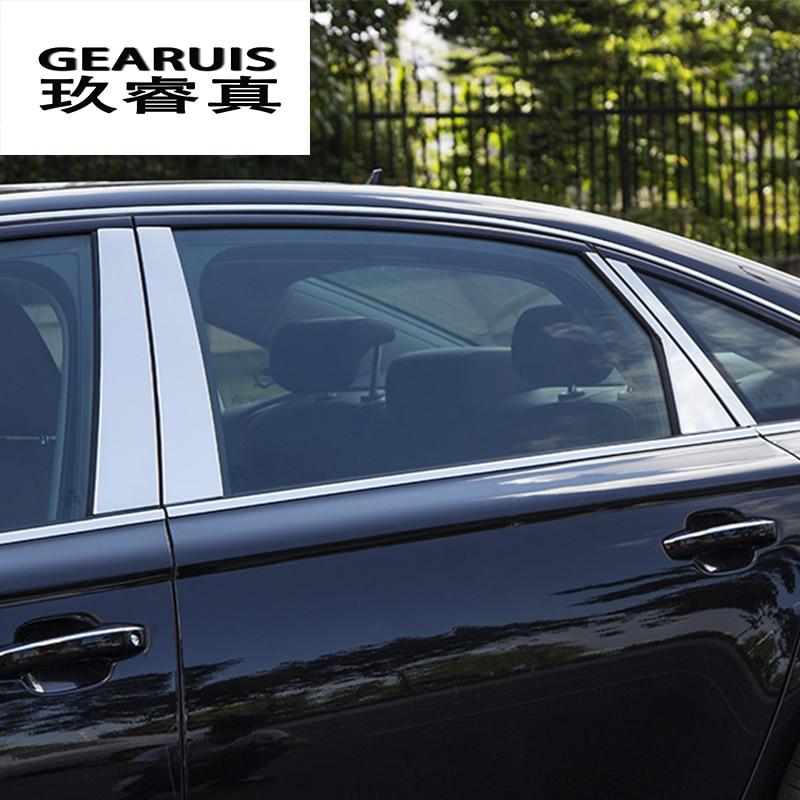 Front Windshield Glass strip Decorative cover trim 2pcs for Audi A6 C7 2012-2015