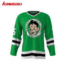 Kawasaki High Quality Mens Collage Trainning Cartoon Ice Hockey Jerseys Wholesale Customized Training Exercise Hockey Jersey