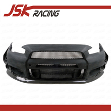 VA STYLE GLASS FIBER Front Bumper + CARBON Fiber Canards And Front Lip For MITSUBISHI EVO 10