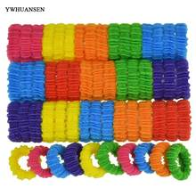 YWHUANSEN 100pcs/lot Beautiful hair accessories Nice hair bands Good hair rope Best hair clips Cheap hair bows girls Scrunchy(China)