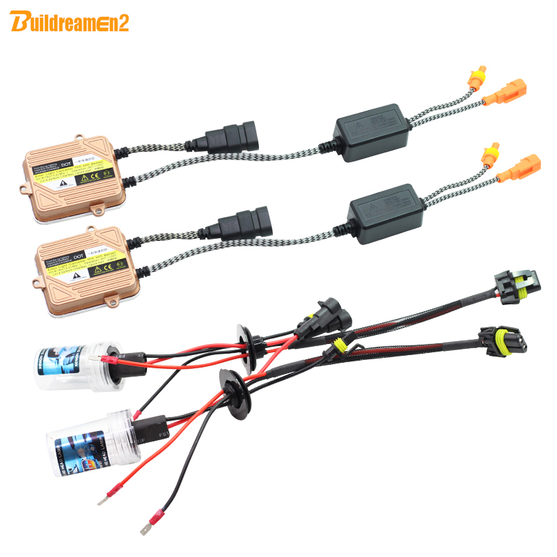 Buildreamen2 9005 9006 9007 H1 H3 H4 H7 H8 H9 H11 880 881 55W Car Light HID Xenon Kit Ballast Lamp 10000K Headlight Fog Light<br>