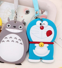 Kawaii 3Models Choice 11*7CM TOTORO Etc, Silicone Rubber Travel Luggage Tag ; Luggage Case TAG Label Name Cards TAG(China)