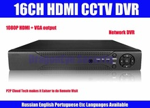 1080P HDMI 16ch CCTV DVR Recorder with P2P Cloud easy remote access by device number, Mobile Phone Monitoring