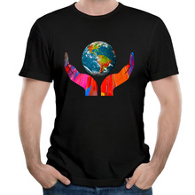 Climate Change Global Warming Oceans Earth Day T Shirts Men Short Sleeve Cotton Male Tops Hip Hop Euro Size O Neck Cool Man Tees(China)