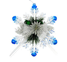 Classic Multicolor Snowflake Ornaments Fashion Christmas Holiday Decorations Party Home Decor ornamentos natalinos(China)