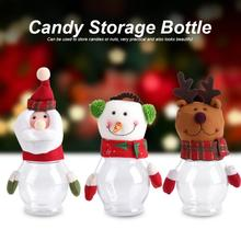 Christmas Decorations Candy Bottle Box Santa Claus Elk Snowman Candy Jars Container Christmas Ornaments Kids Gifts Table Decor(China)